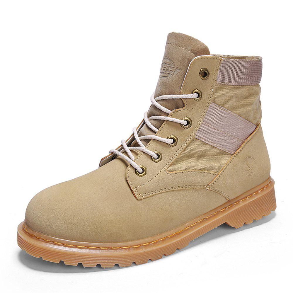 Outfits Men Solid American Casual Vintage Boots