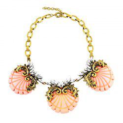Fashion Exaggerated Resin Shell Necklace for Women -