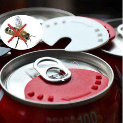 5 PCS Beverage Can Lid Soda Beverage Drink Snaps Tops Cover Beer Champagne Wine -