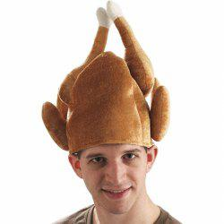Funny Adults Hat Thanksgiving Day Roasted Turkey  Cute Party Festival Caps -