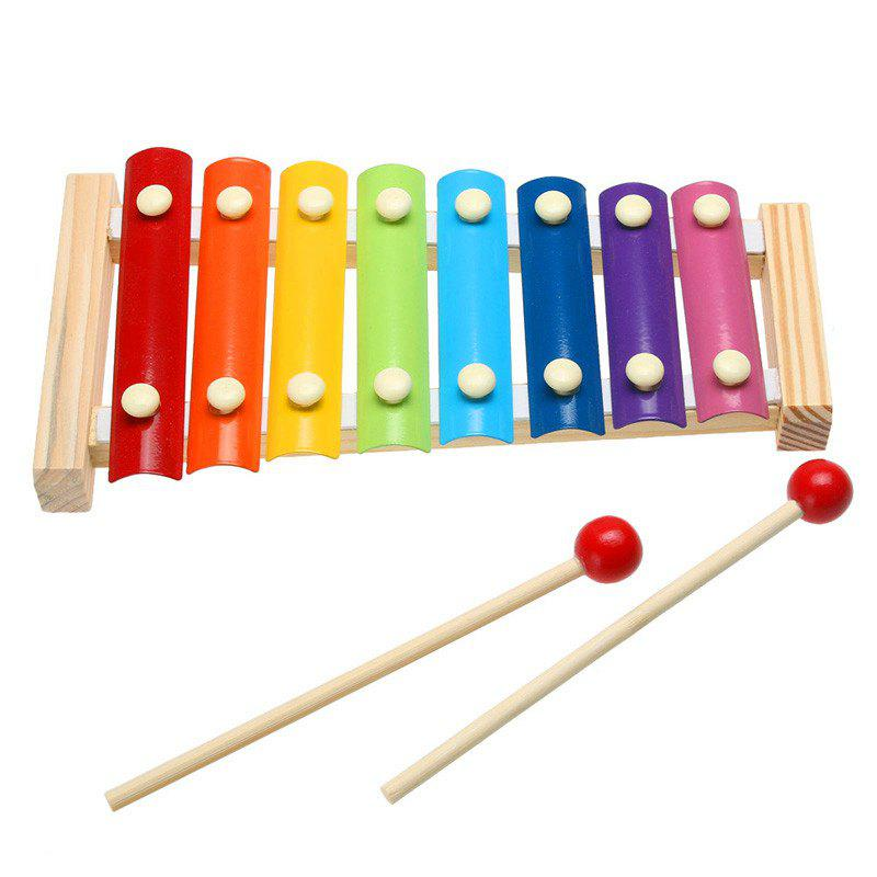 Outfit Wooden Music Instrument Eight Tone Keys Xylophone Toy