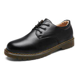 Men Solid Brief Gentlemen Style Low-cut Boots -