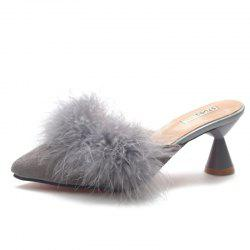 Fashion Pointed Hair High Heels and Semi Slippers -