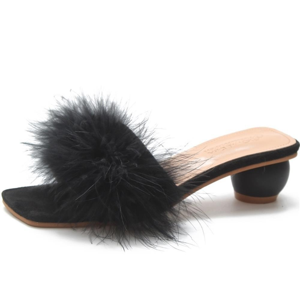 Store A Pair of Slippers in The Middle of The Toes