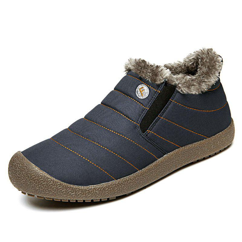 Latest 4 Colors Men Cotton Warm Slip on Winter Plus Size Shoes