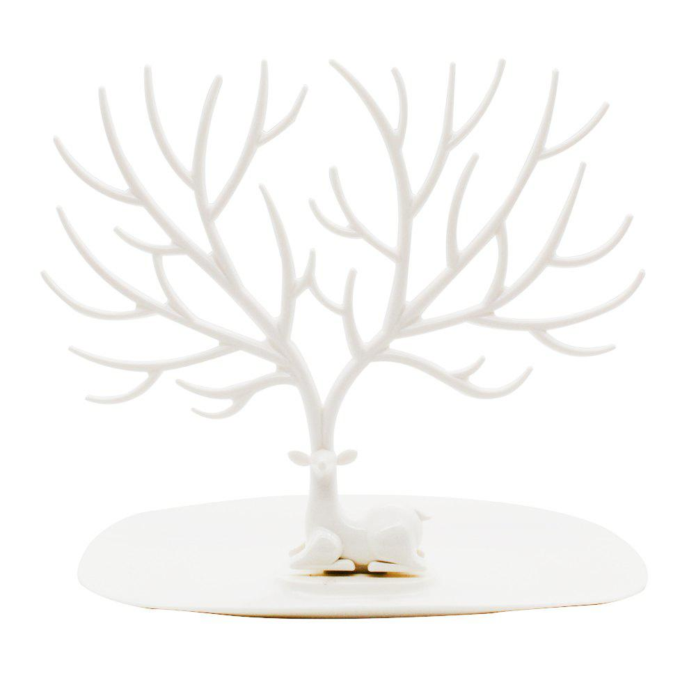 Chic Forest Antler Jewelry Storage Creative Tray Display Stand