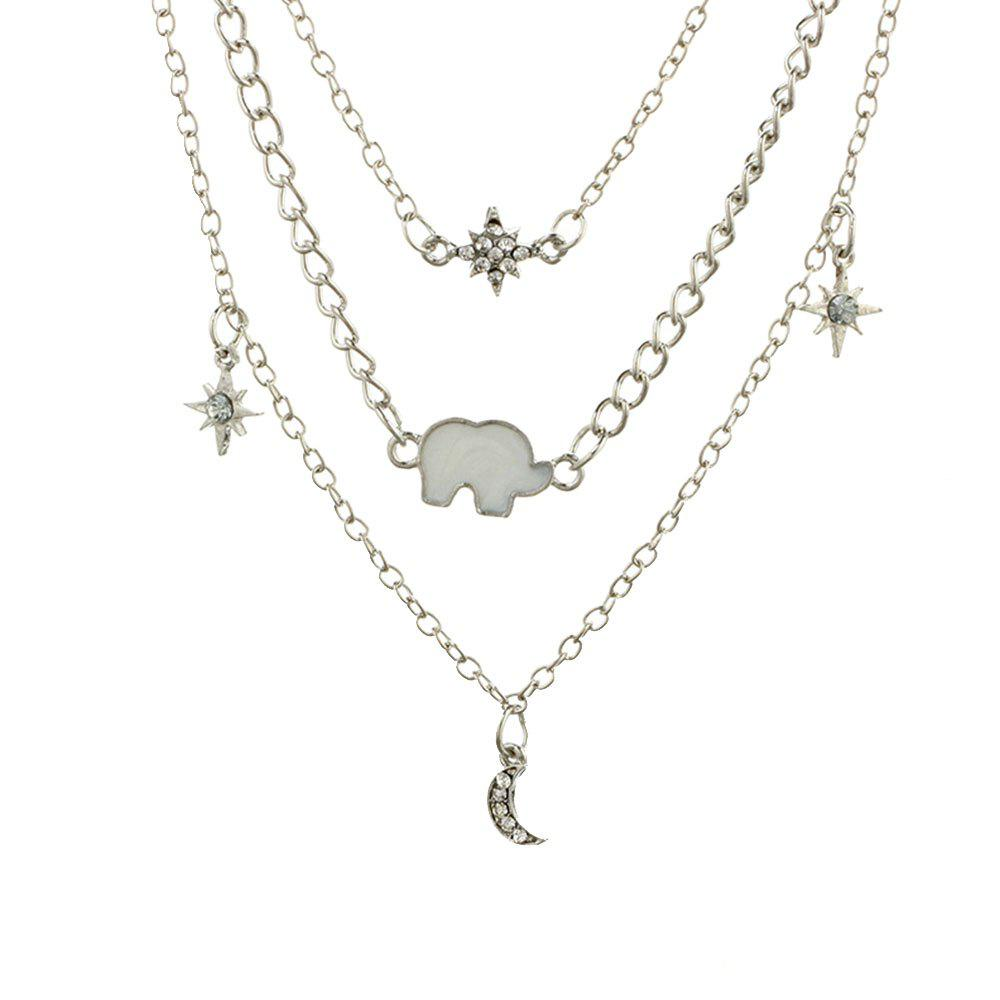 Buy Fashion Multi-Layered Six Star Shaped Necklace