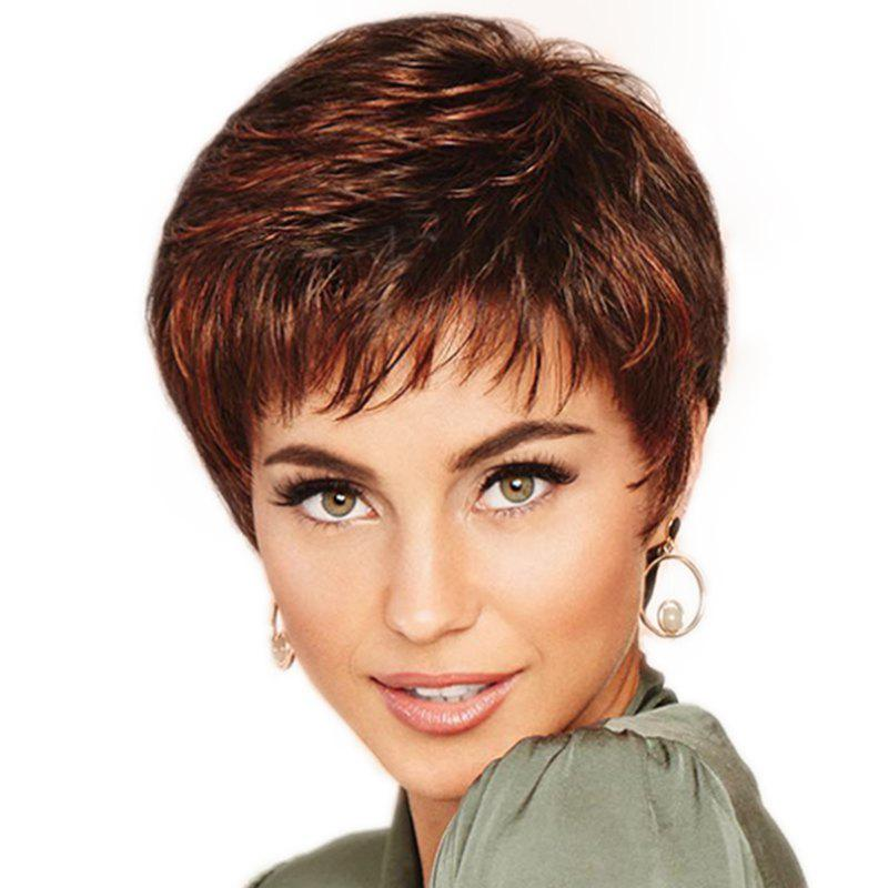 Chic Fashion Slim Face Elegant Small Curl Short Wig