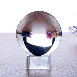 K9 Clear Crystal Ball Globe Suit with Stand for Photography Decoration Lens -