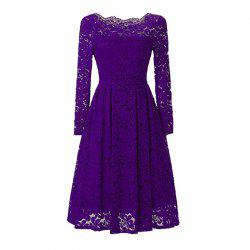 Sexy Long Sleeved Lace Dress -