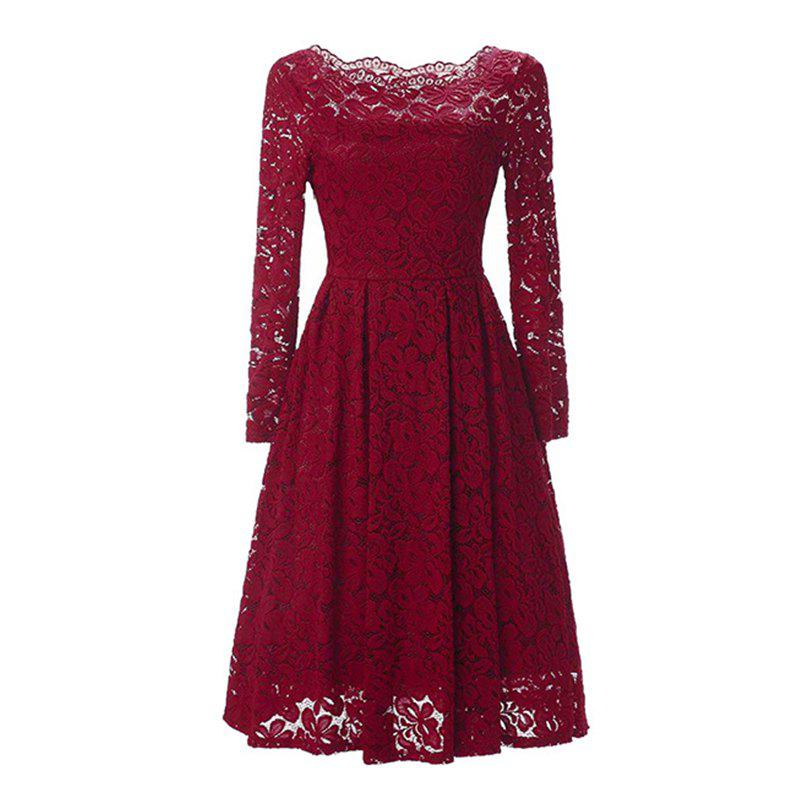 Buy Sexy Long Sleeved Lace Dress