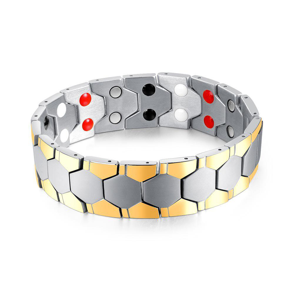 Fancy Cool Magnetic Stainless Steel Bracelet Men Jewelry Gift