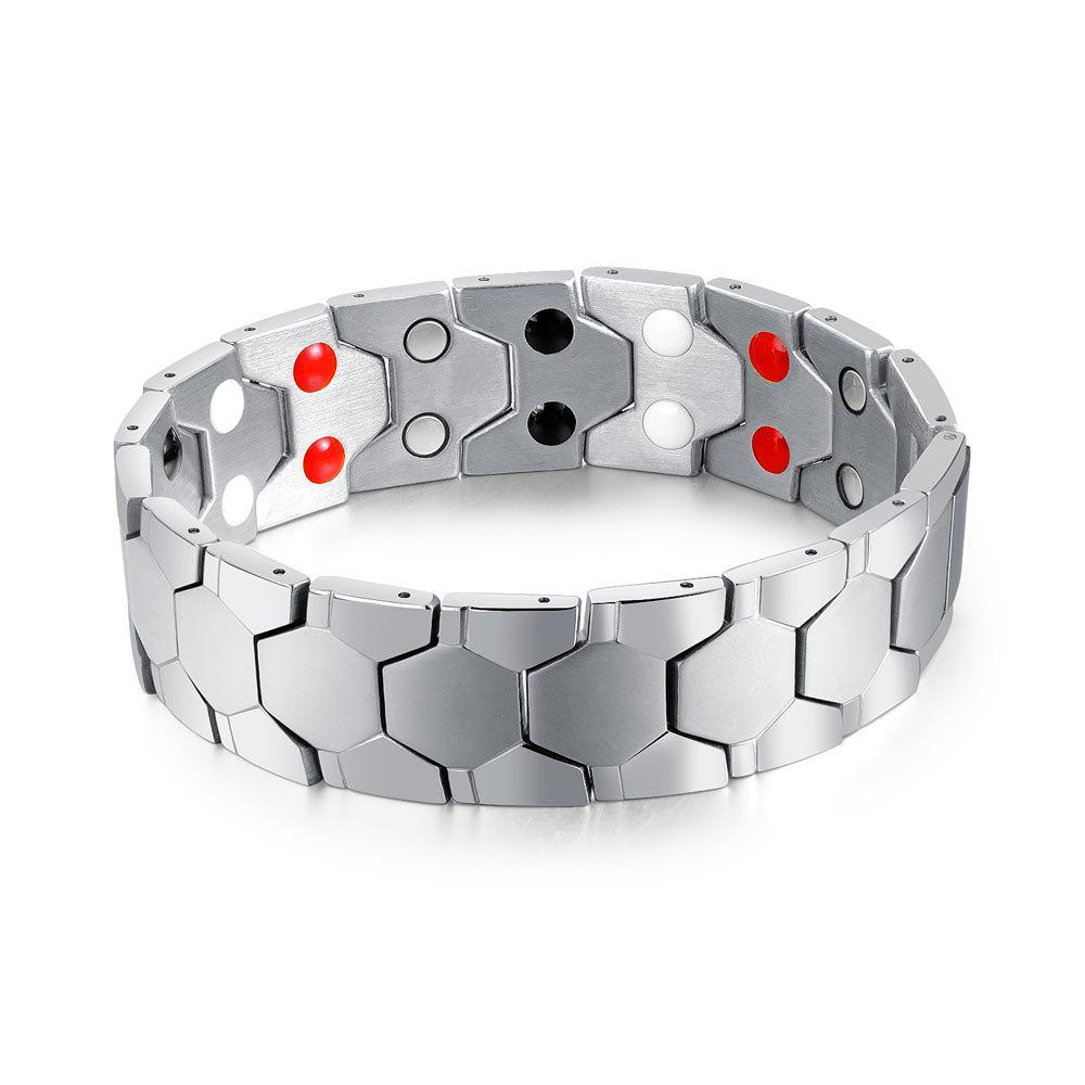 Online Cool Magnetic Stainless Steel Bracelet Men Jewelry Gift