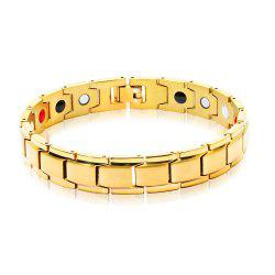 DIY Adjustable Stainless Steel Chain Magnetic Health Care Bracelet Men Jewelry -