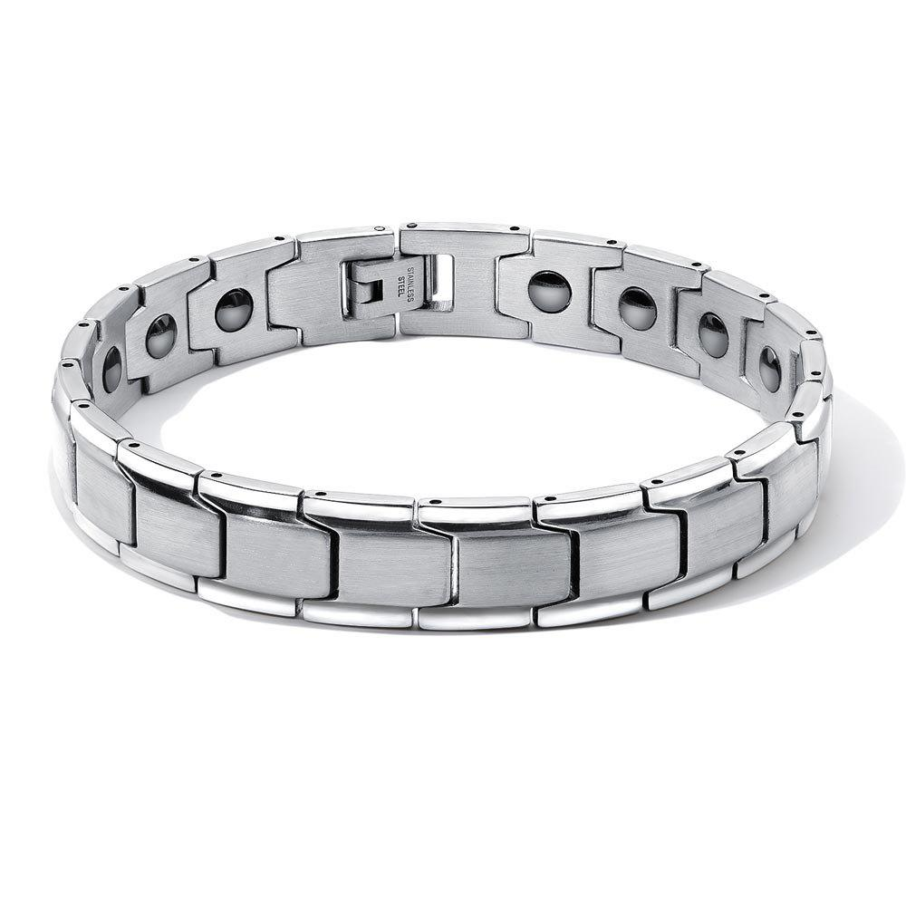 Discount DIY Adjustable Stainless Steel Chain Magnetic Health Care Bracelet Men Jewelry