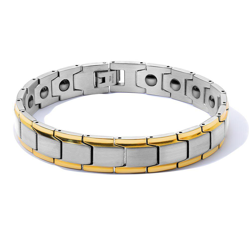Cheap DIY Adjustable Stainless Steel Chain Magnetic Health Care Bracelet Men Jewelry