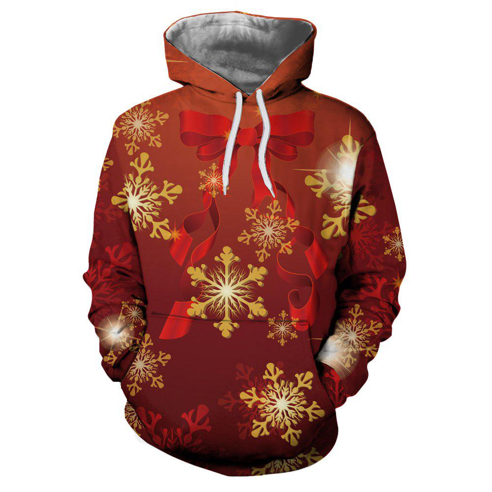 Hot Fashion 3D Digital Print Christmas Long Sleeve Sweater