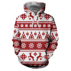 Fashion Christmas 3D Digital Print Long Sleeve Sweatshirt -