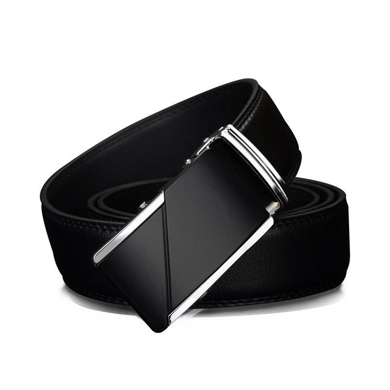 Fashion COWATHER CZ025 Leather Fashion Automatic Buckle Business Casual Belt