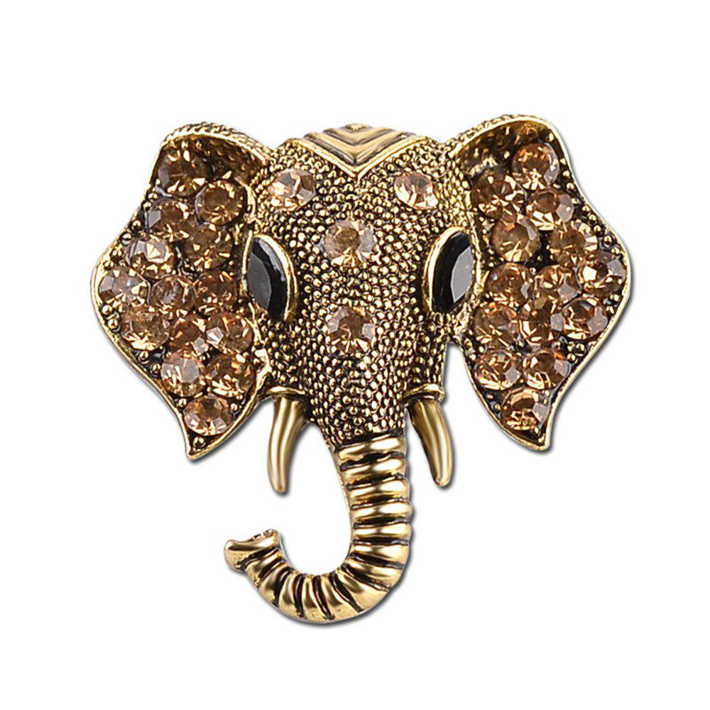 Affordable Anti Alloy Cartoon Zicron Elephant Nose Brooch