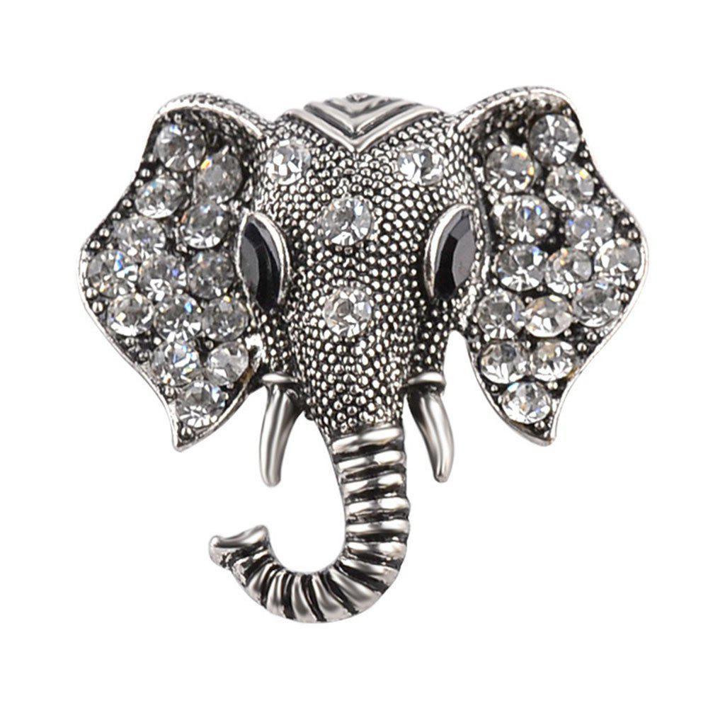 Anti Alloy Cartoon Zicron Elephant Nose Brooch
