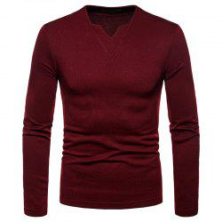 Men's Fashion Casual Warm V-Neck Long-Sleeved T-Shirt -