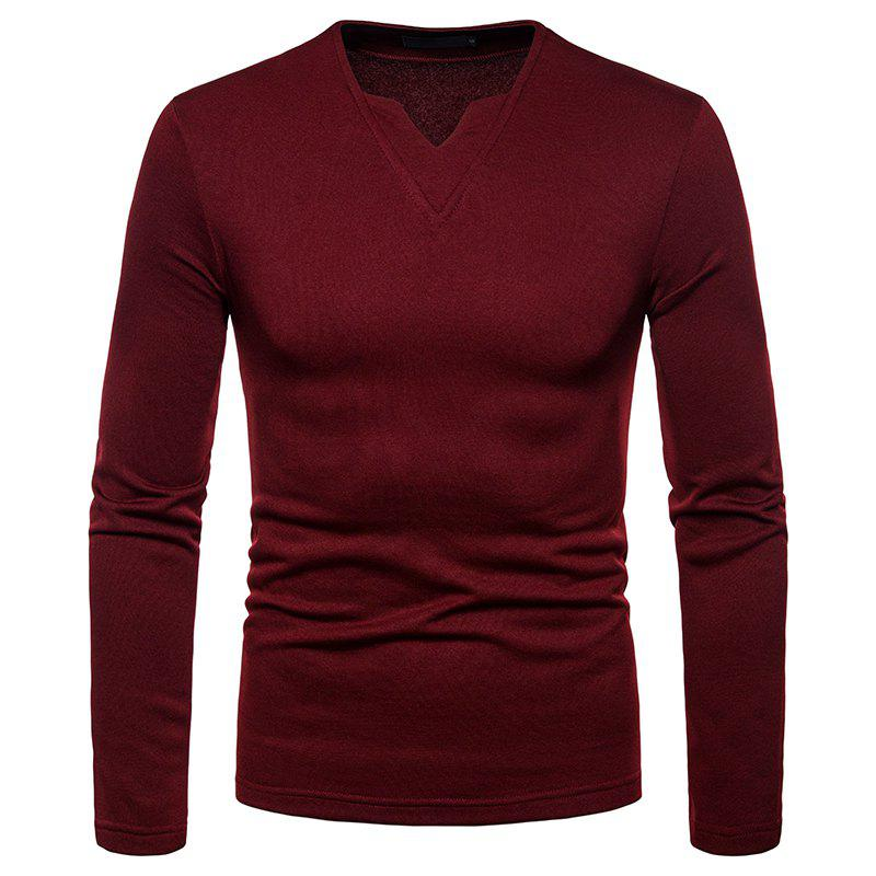 Buy Men's Fashion Casual Warm V-Neck Long-Sleeved T-Shirt