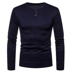 Men's Casual Large Size Warm Fashion Long-Sleeved T-Shirt -
