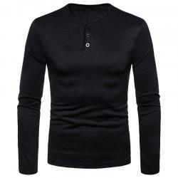 Men's Large Size Warm Casual Long-Sleeved T-Shirt Bottoming Shirt -