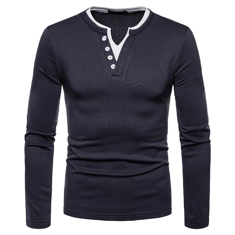 Outfits Men's Fashion Large Size Warm Casual Long-Sleeved T-Shirt Bottoming Shirt