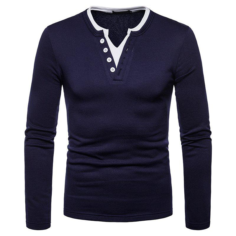 Affordable Men's Fashion Large Size Warm Casual Long-Sleeved T-Shirt Bottoming Shirt