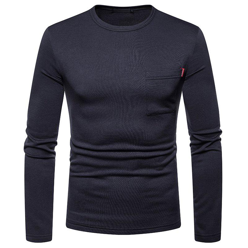 Chic Men's Large Size Warm Long-Sleeved Round Neck T-Shirt Bottoming Shirt