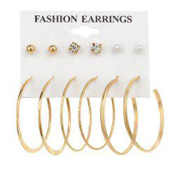 6 Pair Mini Ear Studs -