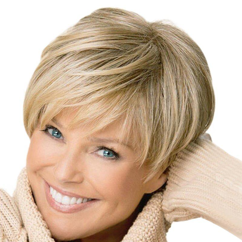 Discount Elegant Gradient Ramp Short Straight Wig
