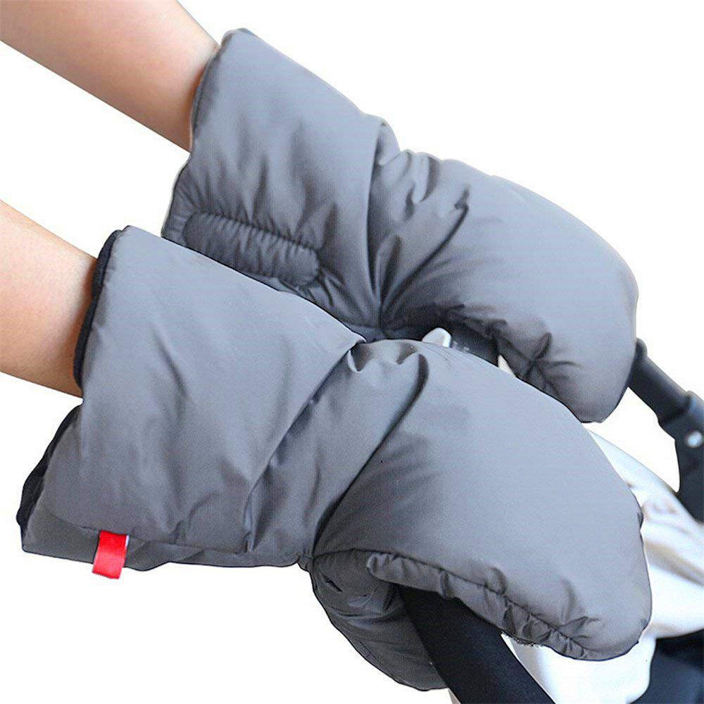 Fashion Stroller Hand Muff Extra Thick Winter Waterproof Anti-Freeze Gloves for Parents