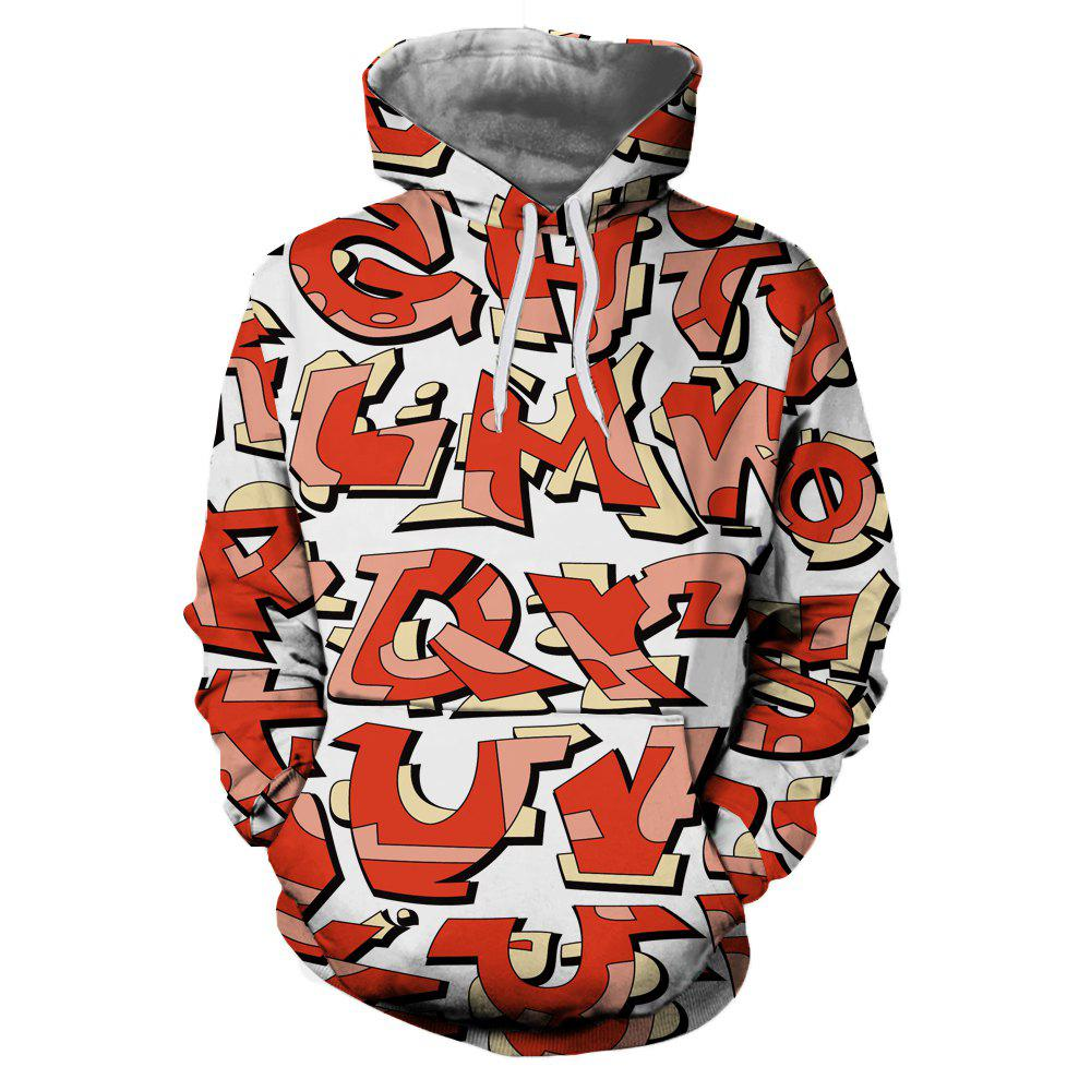 Latest Creative Letter Print Men's Hoodie Sweater