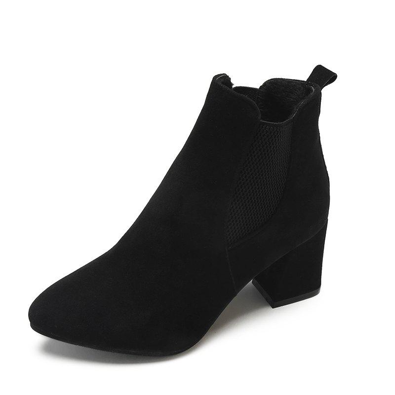 Outfit New Suede Women Boots Joker Pointed High-heeled Women Shoes