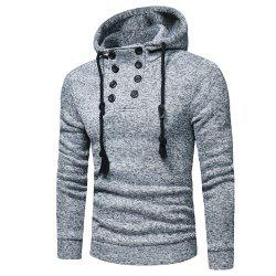Men's  Fashion Casual Double-Breasted Sweatshirt -