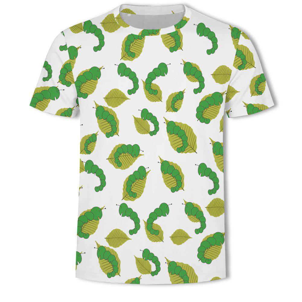 Affordable New Fashion Casual Personality Loose 3D Printing Short T-shirt