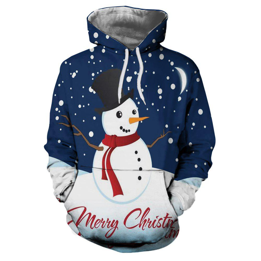 Chic Winter Sports Christmas 3D Print Mens Hoodie