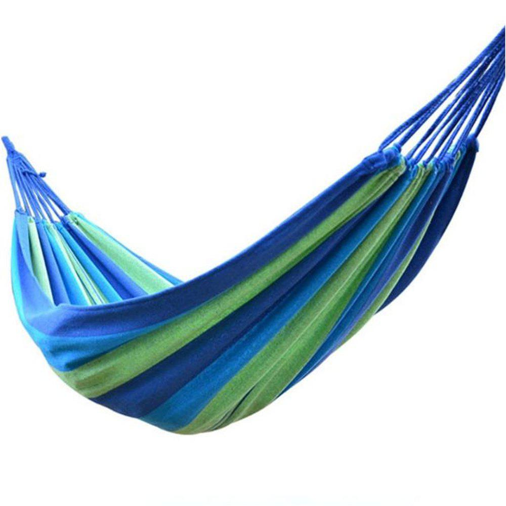 Online Portable 190 x 80cm Canvas Camping Swing Outdoor Hammock Garden Home Travel