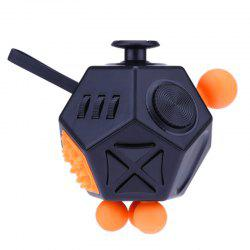 12 Sides Novelty Toy Holy Crystal Decompression Magic Cube for Fidget -