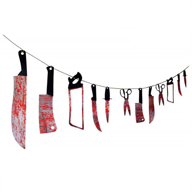 Online 12 PCS Bloody Was Garland Halloween Props