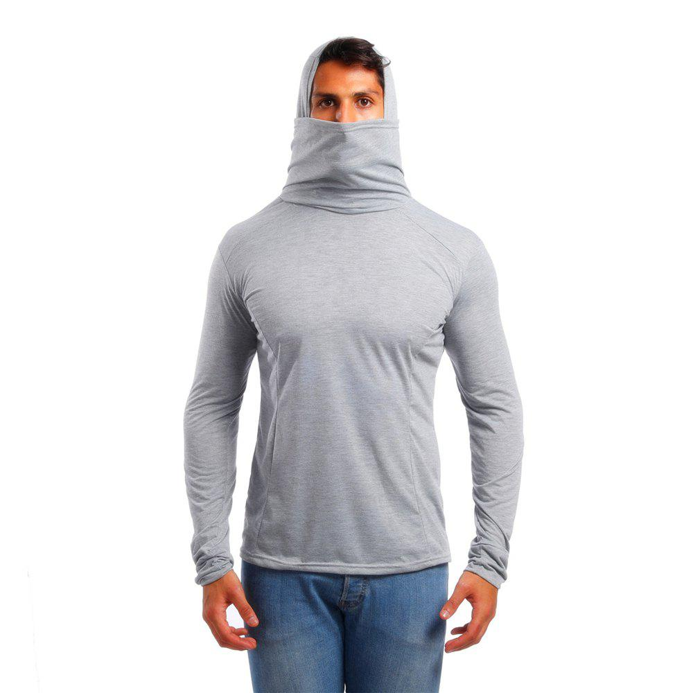 50f96aac7 39% OFF] Men's Hooded Mouth Long Sleeve Sports T-Shirt | Rosegal