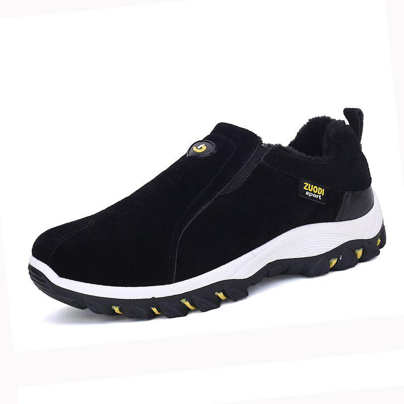 Buy Men Cotton Warm Suede Sneakers Slip on Winter Plus Size Shoes