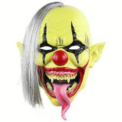 Halloween Green Clown Latex Cosplay Mask Realistic Adult Party Prop -