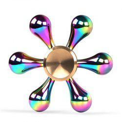 New Electroplating  Colorful Fingertip Gyro Zinc Alloy Decompression Toy -