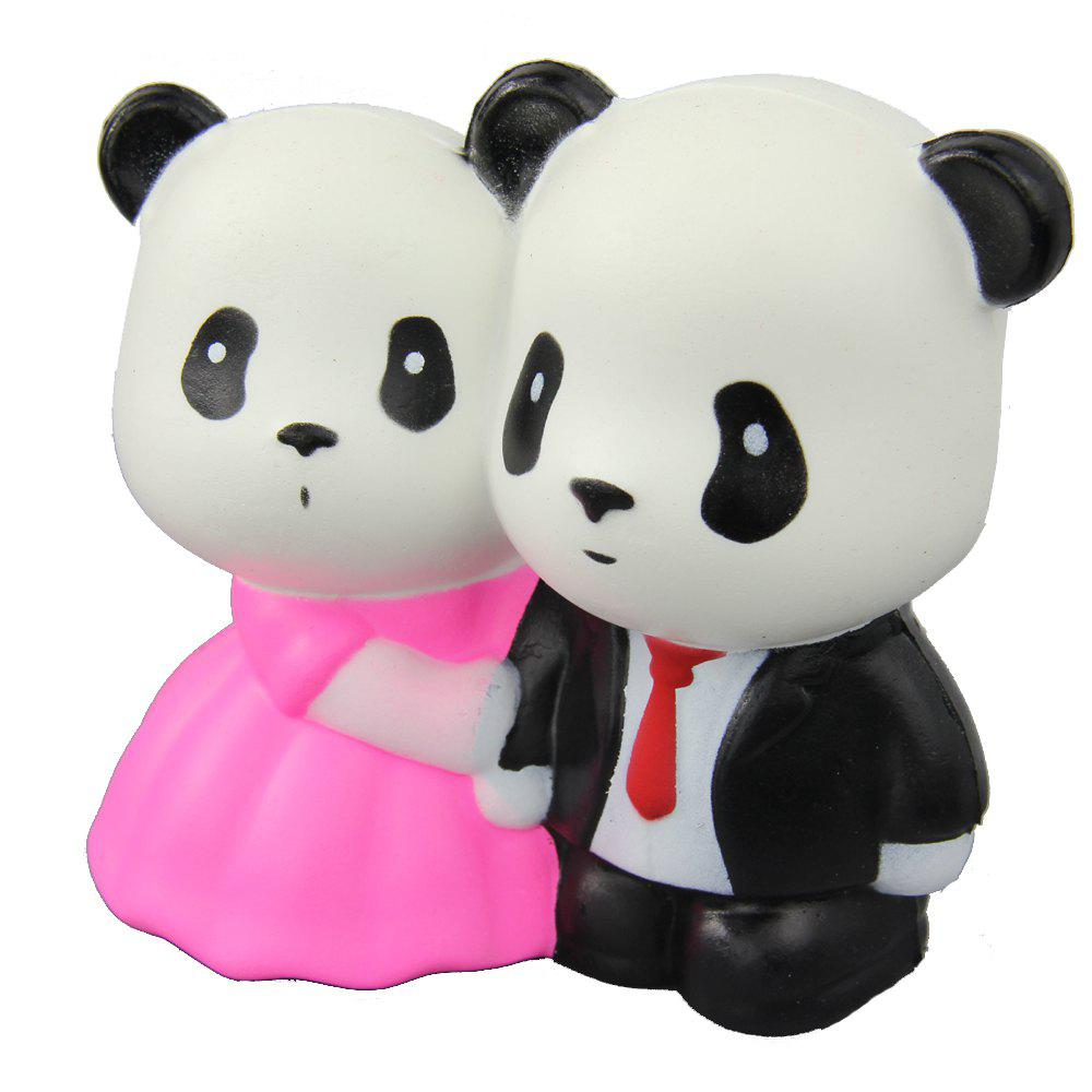 Online Jumbo Squishy Married Pandas Relieve Stress Toy