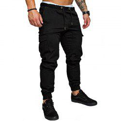 New Men's Casual Tether Elastic Sports Trousers -