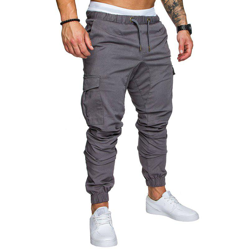 Shops New Men's Casual Tether Elastic Sports Trousers